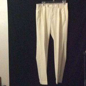 """Ralph Lauren, Lauren cream cuff hem pants # 30"""" W"""